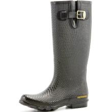 Black Women's Snake Rubber Base Rain Boots