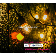 Rainproof Holiday Wedding Decoración de Navidad Interior RGB LED String Lights con EE.UU. Enchufe de la UE
