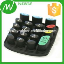 OEM diseño de caucho de silicona teclado con pastillas conductoras