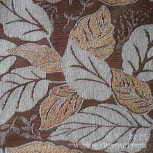 Motif de feuille jacquard chenille neige 100% polyester pour canapé