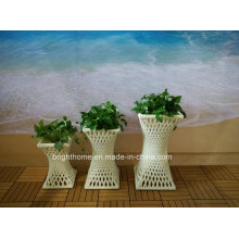 Outdoor Garden Rattan Flower Pot / Planter