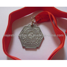 Die Struck Medallion with Orange Ribbon
