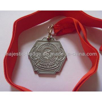 Die Struck Medallion with Orange Ribbon