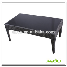 Poly Rattan Dining Table,Black Glass Poly Rattan Handmade Dining Table