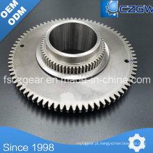 Engrenagem de engrenagem de engrenagem personalizada de alta precisão personalizada para várias máquinas