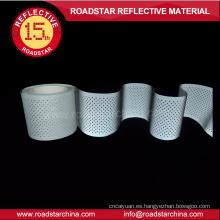 Lavable gris T/C apoyo reflexivo agujeros cinta