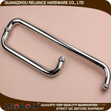 Poignée durable de poignée de porte de douche d'acier inoxydable 304 de qualité durable plaquée
