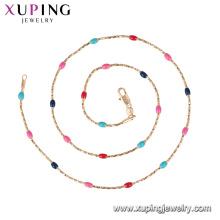 44204 xuping nova venda simples multiplicar cores colar de correntes de ouro com preço de promoção para as meninas