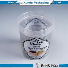 Personalización del envase de plástico de helado