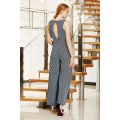 Wrap Front Jumpsuit with Wrap Layers on Leg and Cold Back