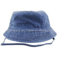 Washed Adjustable Neck Strap Sports Fisherman Bucket Hat (CSCBH9421)