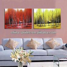 Decoração da parede pintura lona da imagem com cenário moderno impressão em tela esticada
