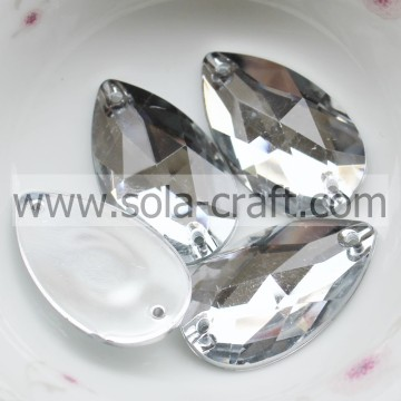 Online verkoop Fashion Plastic Mirror Effect Diamond Teardrop Bead