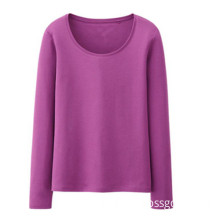 Hot Sale Plain Women Pink Long Sleeve T-Shirt