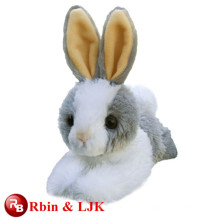 Alta calidad personalizado peluche peluche conejo blanco