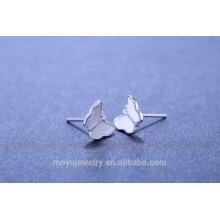 2015 Novo design 925 brinco de borboleta de prata
