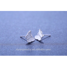 2015 Новый дизайн 925 серебра бабочка серьги