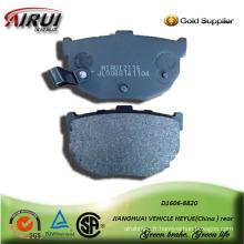 plaquette de frein de voiture semi-métallique pour JIANGHUAI VEHICLE HEYUE arrière