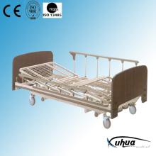 Three Cranks Mesh Type Wood Manual Homecare Bed (A-14)