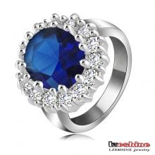 Anneaux de bijoux de mariage zircon saphir (Ri-HQ0016)