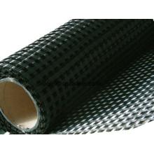 Haustier-120-120kn 25.4mmx25.4mm / 12.7mm * 12.7mm 6mx50m Warp-strickendes Polyester-Geogrid