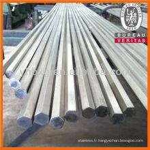 ASTM 316L acier inoxydable hexagonal bar avec la qualité