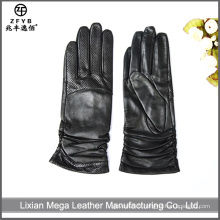 Hot-Selling High Quality Low Price gants en cuir à écran tactile féminin
