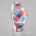 printed grid vogue style new ladies watch silicone