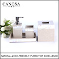 River Shell Inlay Sandstone Bathroom Vanity Set for Hotel Bathroom and Guestroom