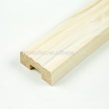 Papel de melamina recon molduras de madeira colunas de madeira decorativa