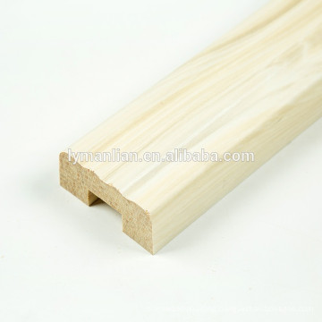 Melamine paper recon wood mouldings decorative wood columns