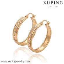 29583 Xuping мода большой обруч серьги, 18k позолоченные Алмаз серьги