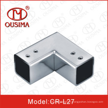 Connecteur de tuyau d'angle de porte de verre douche
