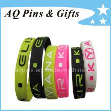 Bracelets de bracelet en silicone avec remplissage de couleur