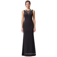 Kate Kasin rebordeado cuello redondo sin mangas ahuecado hombros vestido de fiesta de baile vestido de fiesta de baile KK001026-1