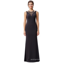 Kate Kasin Beaded Sleeveless Round Neck Hollowed Shoulders Ball Gown Evening Prom Party Dress KK001026-1