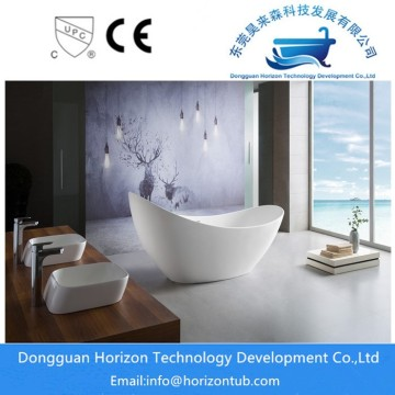 Acrylic Oval Center Drain Freestanding Bathtub