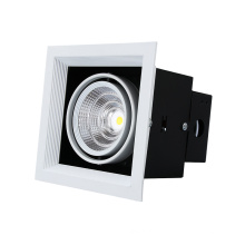 Aluminum Single Head Lamp COB Led Grille Downlight