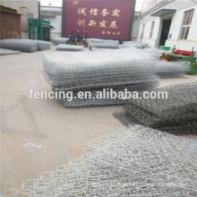 Rede de proteção Gabião / gaiola de pedra gabião