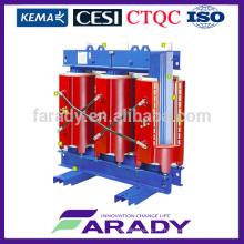 SCB10 tipo 10.5kv 450kva en la carga resina resina tipo seco transformador