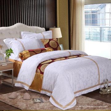 Weiße Baumwolle bestickt Bettbezug (DPF061047)