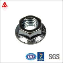 Porca de flange hexagonal M10 em aço inoxidável