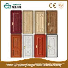 Moldeado piel de la puerta de fabricación de la máquina / MDF moldeado puerta piel / melamina hdf piel puerta 4.2mm de espesor