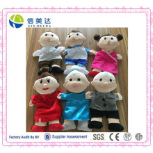 Harmonische Plüsch Familie Handpuppe Familie Puppen
