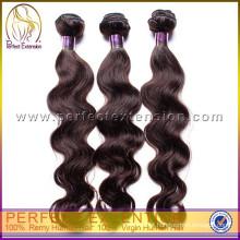 Extensões 2014 do cabelo humano da onda do corpo da qualidade super do fornecedor de Dropship Miami