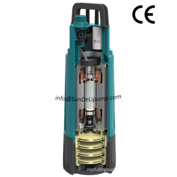 Automatic Start and Stop High Pressure Big Flow Multistage Impeller Garden Submersible Pump with Inner Pressure Switch