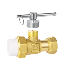 brass used in front water meter lockable active joint plastic joint ball valve