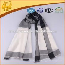 Clássico com estilo verificado com fios tingidos 100% cachecol de cachemira pura, atacado Custom Fashion Winter Scarves