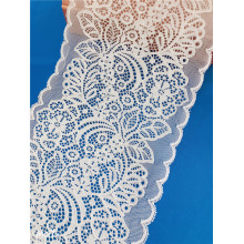 19cm Nylon Spandex Broad Soft White Lace Trim