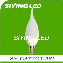 e14 C37 ceramic cup candle led light bulb